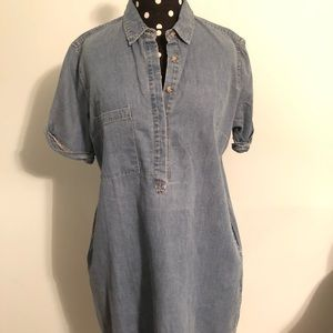 Denim boxy fit dress
